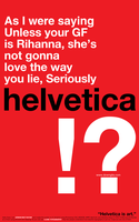 Helvetica typography test by gamep01nt