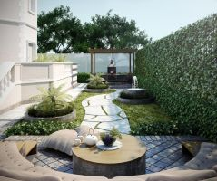 Backyard redesign by kasrawy