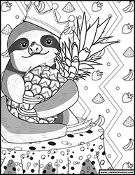 Sloth Coloring Book Page by cosmicordia