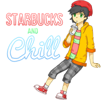 Let's Starbucks and Chill by Temmiesaur
