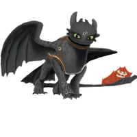 Toothless le fire-breathing reptile by PurpleMistPepper