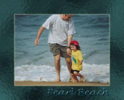 Pearl Beach with Dad by littleredplanet