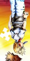 Sora and Roxas - bookmark sogen by baberscamille
