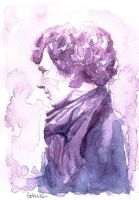 A Study in Watercolor - Sherlock Holmes by Gohush