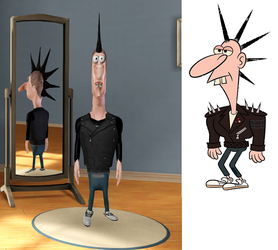 Kevin E Peepants from Uncle Grandpa (Sims 3) by Alberta360