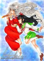 :.Inuyasha and Kagome.: by HokoriCupcake