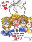 England X Reader = I Never knew you were a GIRL! by gohagosa