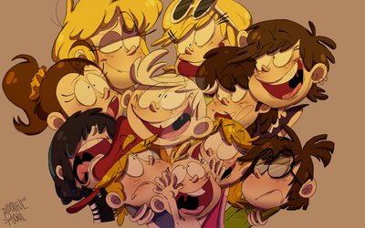 The Loud House by UpsideDownParty
