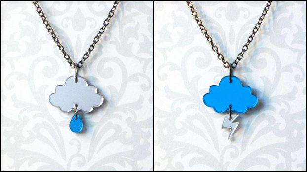 Rainy Day and Stormy Night Necklaces by melkatsa