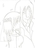 miyuki and neji's wedding by i-love-chi