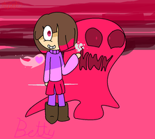 Bete noire (Betty) from Glitchtale by HeyaitzCris