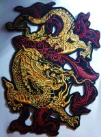SOLD - Chinese Dragon Iron-on patch by CyanFox3