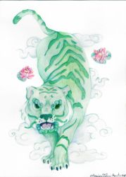 tiger dragon foo dogs by Annica9