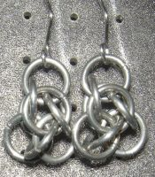 Chainmaille Earring 40 by Des804