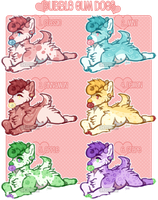 Bubble Gum Dogs Set Price - 3/6 OPEN by ghostblush