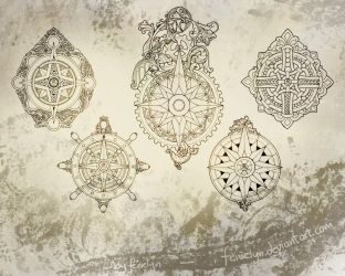 Ornamental Compass-Roses ressource pack by Feivelyn