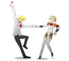 Persona - Teddie and Aigis by Morgan-the-Rabbit