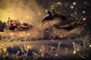 Holidays are over, Santa by Amaranta-G