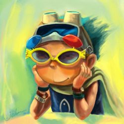 Cuson with Fish Shape Glasses by starryjohn