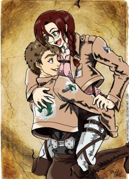 SnK OC Tony and Nasha by Asphil