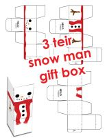 Merry Xmas Snowman Gift Box by hellohappycrafts