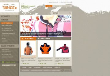 Hiking webshop webdesign by stikyo