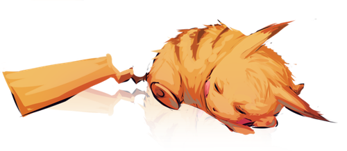 Snoozing Pikachu by moni158