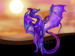 Sunset Dragon Speedpaint by Shadowind