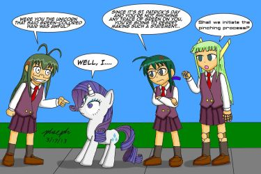 Problem With Green Hair? by pheeph