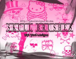 Skull Brushes by YaniLavigne