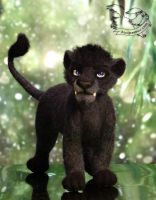 Needle Felted Lion Antares by YuliaLeonovich
