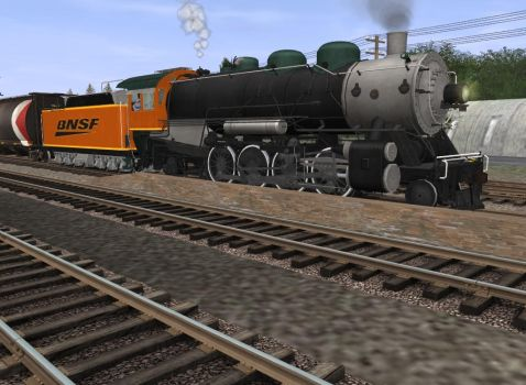 If BNSF used steam locomotives in freight by stormsirens2