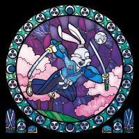 Usagi Yojimbo In Stained Glass by nenuiel