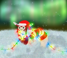 Candy Cane Furret by Viatrice