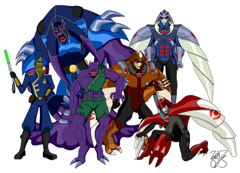 TMNT FF - Sean Schemmel Character Lineup by metaknightgirl13
