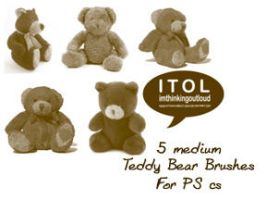 Teddy Bear Brushes by imthinkingoutloud