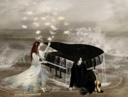 The Pianist and Violinist by Veronika-Art