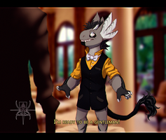 Tiny Gentleman, At your Service by MutantParasiteX