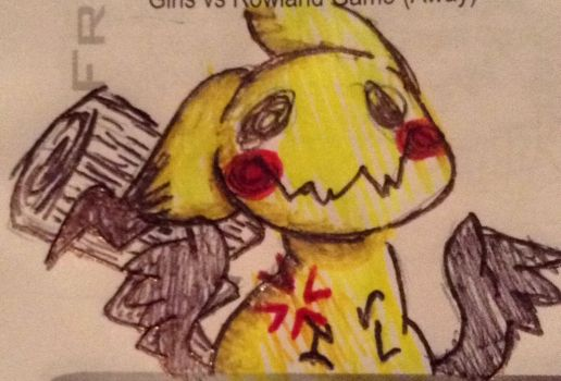 Angry Mimikyu! ( Pokemon Sun and Moon FanArt?..) by CreepyGamerGirl2002