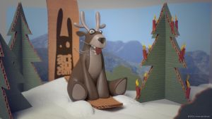 Reindeer on christmas vacation by ChrRambow