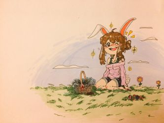 Easter Bunny Girl by Rin-the-orangemaster