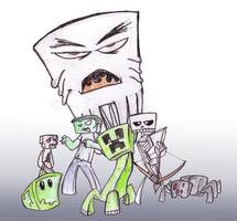 Minecraft Monsters by Edspear