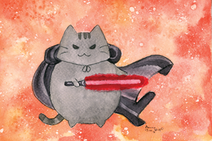 Darth Pusheen by ArunaWolf