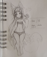 .: [OC] Ume Sketch :. by Mekaiime