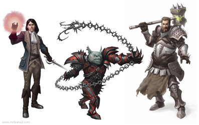 Pathfinder Characters I by mc-the-lane