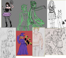 2012 unfinished+random stuff by Mistery-forever