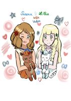 Serena ~ Lillie With Vulpix by PrincesseSerena