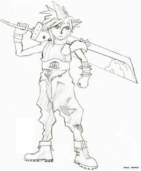 Cloud Strife Final Fantasy VII by Grkes