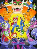 Mario and Luigi Superstars by bionicfan32001