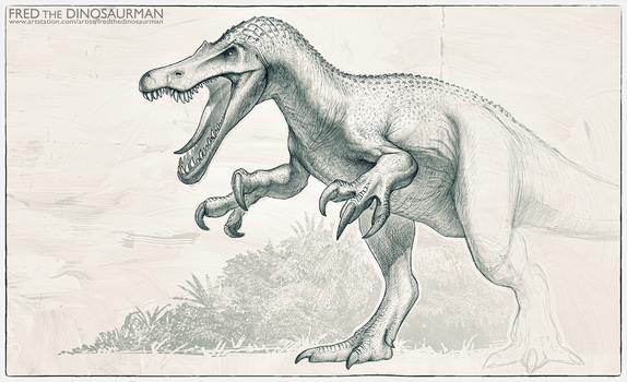 Jurassic World 2 Baryonyx Redesign by FredtheDinosaurman